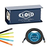 blucoil Cloud Microphones CL-1 Cloudlifter 1 Channel Microphone Activator/Preamplifier -Includes 10 ft Balanced XLR Male/Female Cable Plus 5 Pack Cable Ties.