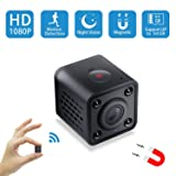 Mini Spy Camera WiFi,Wireless Hidden Camera Pet Nanny Cam Video Recorder with Motion Detection,HD 1080P Night Vision Remote Viewing Camera for Home Surveillance Security,Support iOS & Android (Black) (Color: black)
