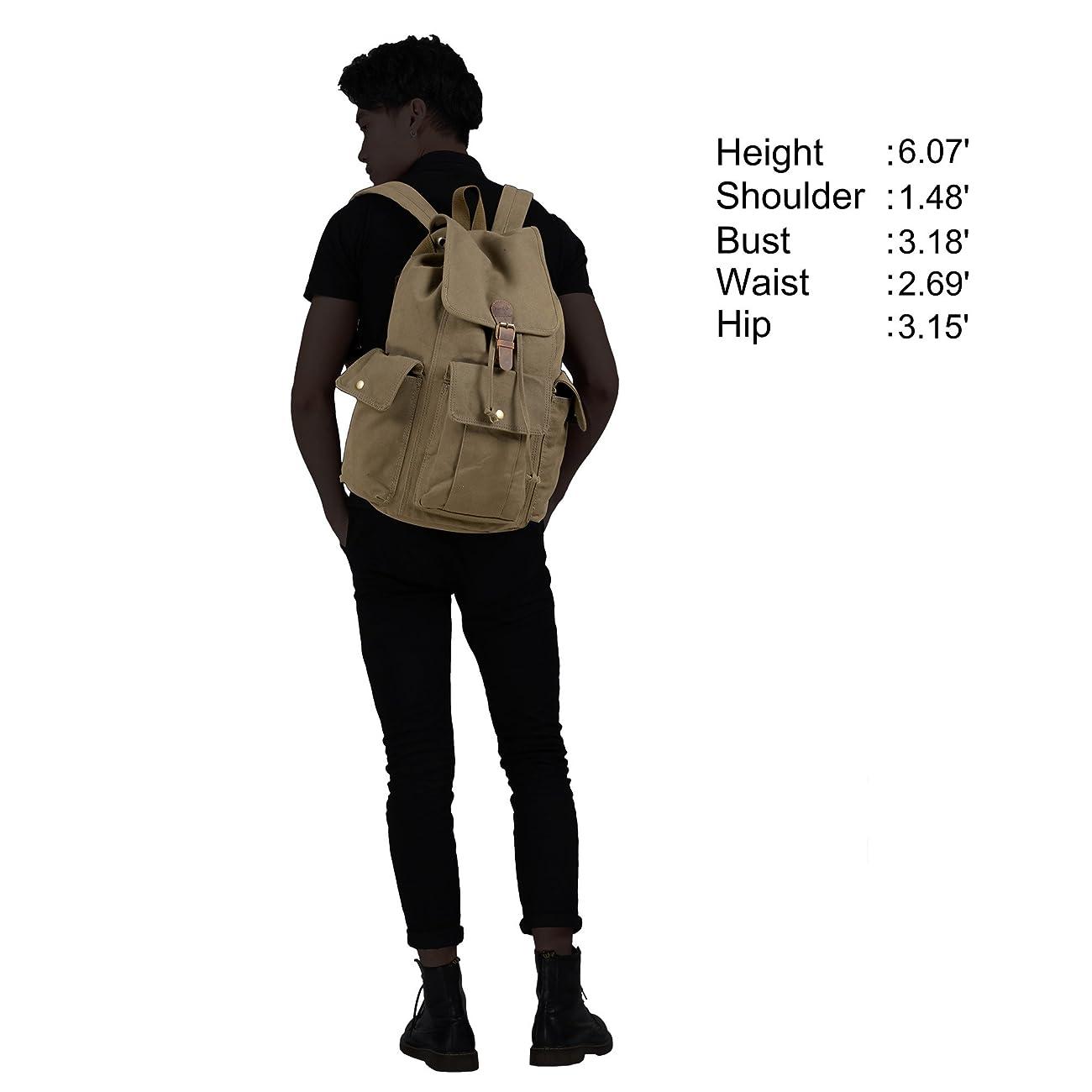 Hynes Eagle Retro Designer Canvas Backpack 28 Liter 5
