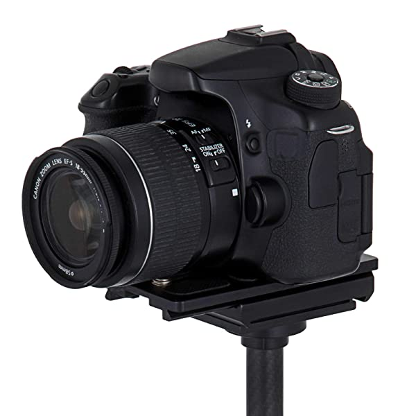 ESTABILIZADOR ESTABLE DE MANO DE FIBRA DE CARBONO S60T 360 ° para cámara compacta DSLR Canon