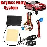 Sedeta Auto Cars Remote Control Central Door Locks Locking Security Keyless Entry Kit (Color: Blue)