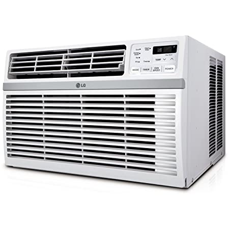 LG Electronics LW8014ER Window-Mounted Air Conditioner with Remote Control, 8000 BTU