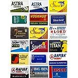 100 Quality Double Edge Razor Blades Sampler (18 different brands)