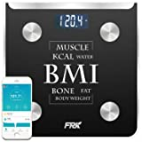 FRK Bluetooth Body Fat Scale, Wireless Smart Digital Weight Scale Syncs with Apple Health& Google Fit, Body Composition Scale Measures Body Fat, BMI,