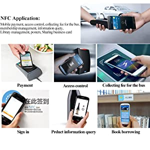 NFC NTag213 tag RFID PVC stickers 13.56mhz for Samsung TagMo LG HTC android nokia windows Sony all NFC-enabled smartphones and devices (50PCS) (Color: 50PCS, Tamaño: 50PCS)