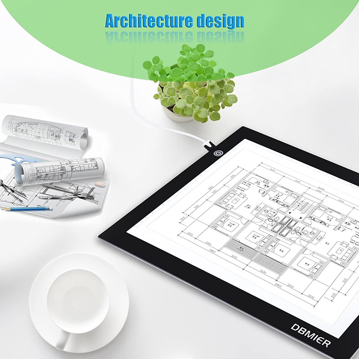"Tracing Light box Dbmier A4S USB Powered Light Pad Artcraft Tracing LED Light Board for Drawing, Tracing, Sketching, Animation Active Area 8.27"" X 12.20"""