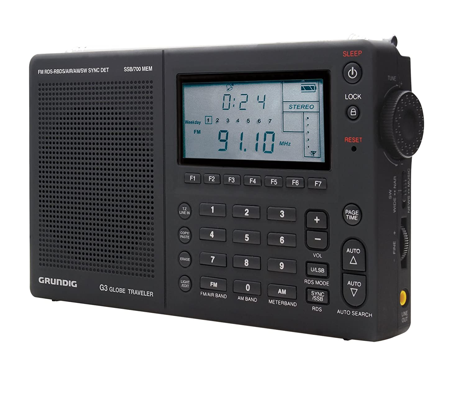 Grundig Globe Traveler G3 Portable AM/FM/Shortwave Radio, Black &#8211; (NG3B) $90.87
