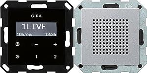 Gira 248005 Bedienaufsatz für Unterputz Radio RDS System 55 (ohne Lautsprecher + Anschlussmaterial)  BaumarktBewertungen und Beschreibung