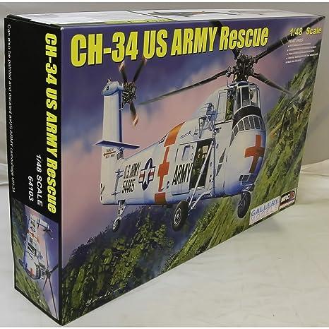 Maquette hélicoptère SIKORSKY CH-34 Hélicoptère médicalisé US Army 1970