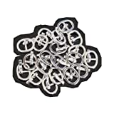 BJD Shoes Buckle,DIY bjd Japanese Doll Bag Buckles Belt Buckle Sewing Fasteners 20 pcs (Silver) (Color: silver)