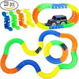 Gomech Magic Race Tracks Bend Flex Glow in the Dark Assembly Car Toy, The Amazing Race Car Track Set (220pcs) (Color: 4 Color)