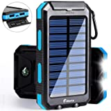 Solar Charger, 20000mAh Solar Power Bank Portable Chargers for Cell Phone External Battery Charger with Dual 2 USB Port/LED Light Backup Battery Pack for Backpacking Camping Solar Charging (Color: 20000mAh -Blue, Tamaño: 20000 mAh)