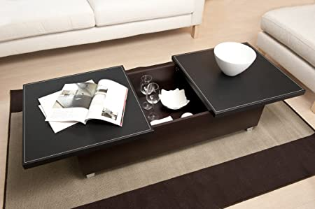 Modern Living Room Furniture Centers Around Monroe Coffee Tables with Storage. Slide Open Top Square Coffee Tables Make a Stunning Statement About Your Home Decorating Flair. Your Living Room Furniture Tables Can Be More Than Just a Cocktail Table.