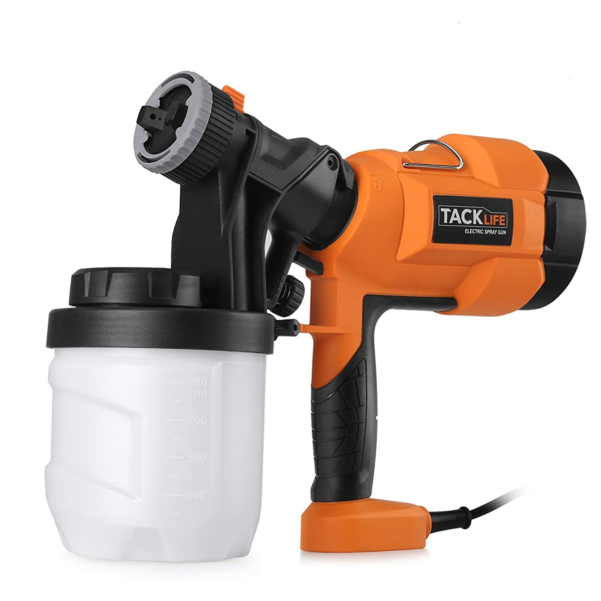 Tacklife SGP15AC Advanced Electric Spray Gun 800ml/min Paint Sprayer with Three Spray Patterns,Three Nozzle Sizes,Adjustable Valve Knob, and Easy Filling 900ml Detachable Container