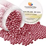 PandaHall Elite 4mm About 1000Pcs Tiny Satin Luster Glass Pearl Round Beads Assortment Lot for Jewelry Making Round Box Kit Crimson red (Color: Crimson Red-1000 Pcs, Tamaño: 4~4.5mm)