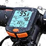 RISEPRO Bike Computer, Wireless Bicycle Speedometer Bike Odometer Cycling Multi Function Waterproof 4 Line Display Backlight YT-813 (Color: Black, Tamaño: Small)