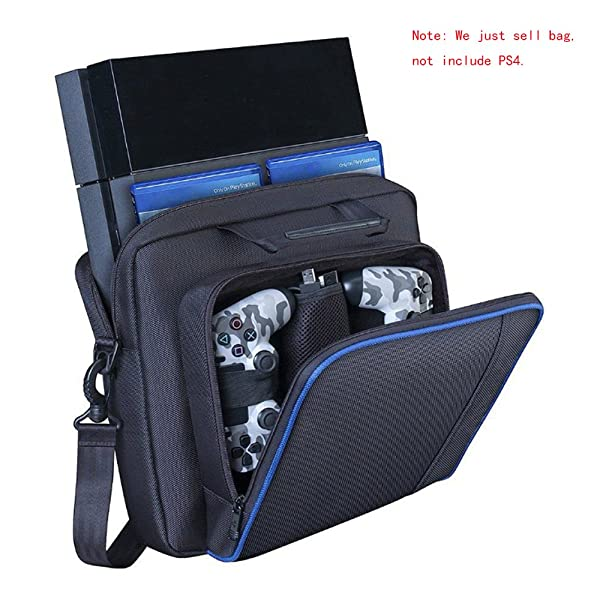New Travel Storage Carry Case Protective Shoulder Bag Handbag for PlayStation PS4 and Slim System Console Carrying Bag and Accessories #81050 (Color: Black)