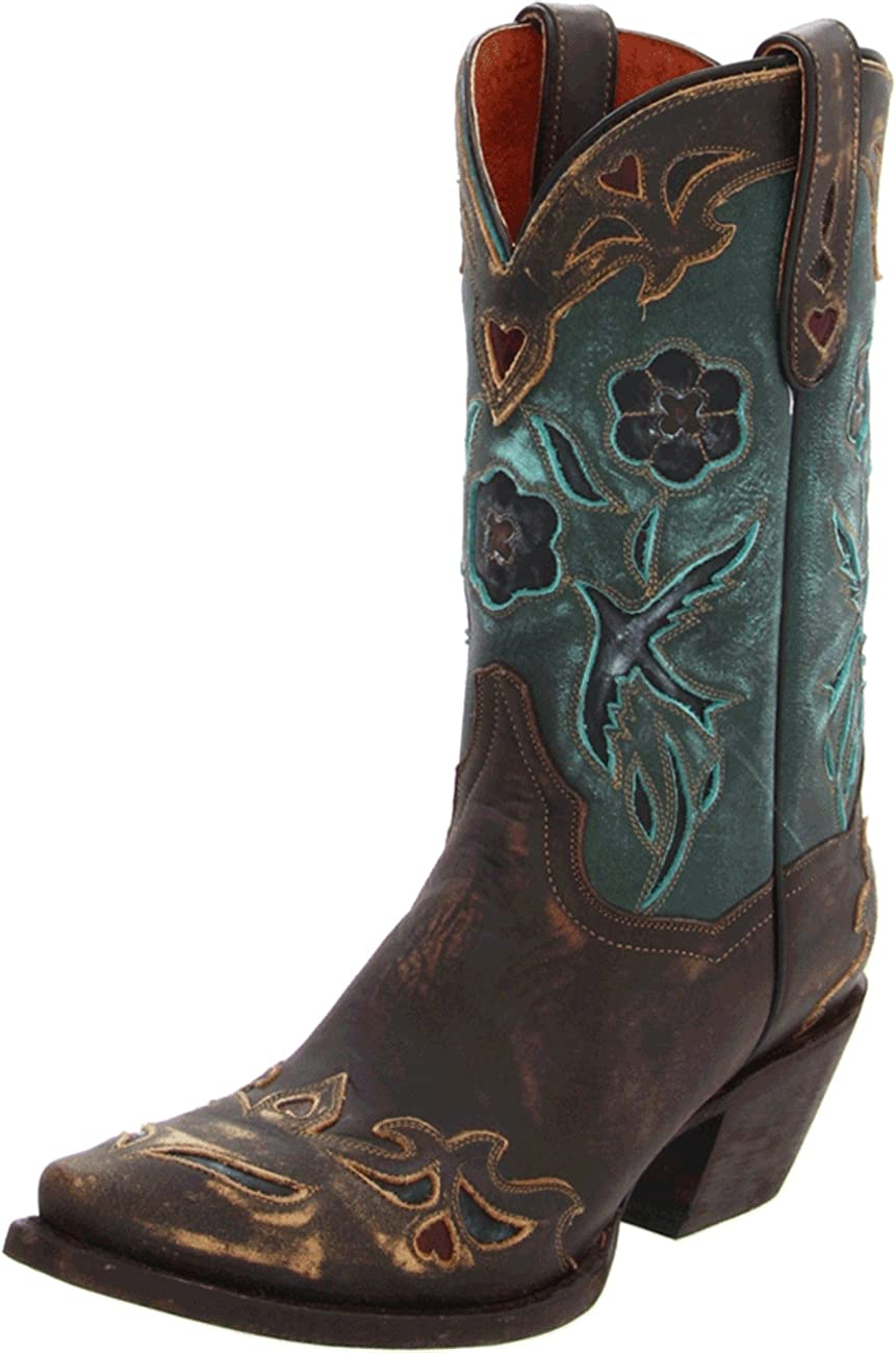 Dan Post Women's Vintage Blue Bird Western Boot 0