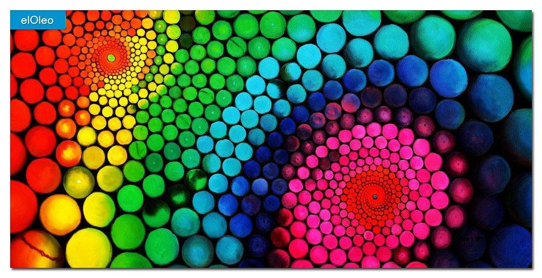 elOleo Abstrakt 60´s molekulare Geometrie 60×120 Gemälde auf Leinwand handgemalt 83415A kaufen