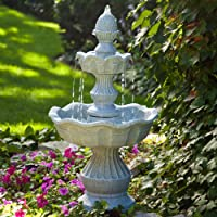 Welcome Garden Pineapple Tiered Outdoor Fountain