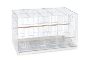 Mcage Lot of 6 Aviary Breeding Bird Finch Parakeet Finch Flight Cage 24 x 16 x 16H (White) (Color: White, Tamaño: 24 x 16 x 16H)
