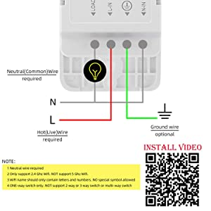 Smart Light Switch, Aleath Smart Switch, 2.4Ghz WIFI Light Switch - Neutral Wire Needed, Compatible with Alexa, Google Assistant and IFTTT, Remote Control - 2gang (Color: White, Tamaño: 2 Gang)