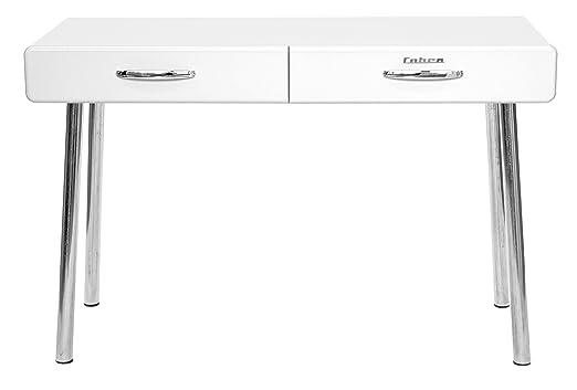 Tenzo 4950-001 COBRA Designer Bureau 2 tiroirs Panneaux de particules/MDF Blanc 120 x 50 x 76,5 cm