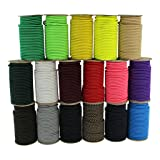Shock Cord 1/8 Inch - SGT KNOTS - Marine Grade Dacron Polyester Bungee - 100% Stretch - Moisture, UV, Weather Resistant - DIY Projects, Tie Downs, Commercial, Indoor, Outdoor (100 feet - Black) (Color: Black, Tamaño: 1/8 inch x 100 feet)
