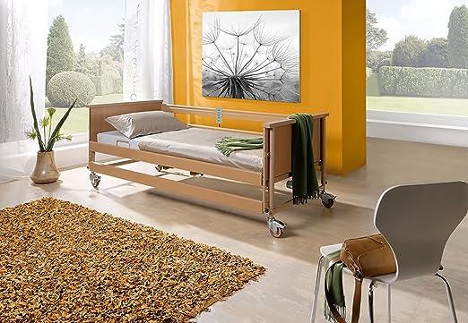 Burmeier-Bett ECONOMIC II 4-get.,90x200cm,Holz, Krankenpflegeartikel