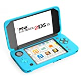 MoKo Silicone Case for Nintendo New 2DS XL, Anti-slip Protective Cover Skins for Nintendo New 2DS XL/LL (2017) - Blue