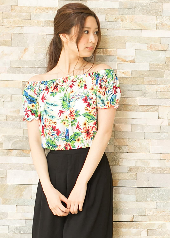 SPINNS オフショルダー スモック RST ホワイト - : 服&ファッション小物通販 | Amazon.co.jp