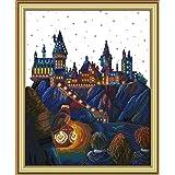 Stamped Cross Stitch Kits Magic Castle14Count 34cmx42cm DIY Needle Work for Home Decor (Magic Castle) (Color: Magic Castle)