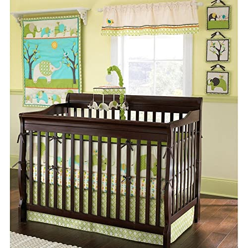 Harriet Bee Rollins 3 Piece Crib Bedding Set: Elephant Crib Bedding