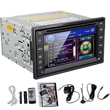 """Hot! GPS pour voiture - 6,2 """"et lecteur CD, DVD GPS iPod Autoradio DVD Double DIN lecteur DVD/vidéo 2 Audio stéréo Lecteur MP3/Radio/TV numérique"""