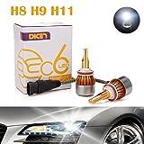 H11 H8 H9 LED Headlight Bulbs 12000LM 120W DRL Conversion Kit for Fog Light/Low Beam/High Beam 6000K Cool White COB Chips Super Bright Plug & Play - 2 Yr Warranty (Pair)