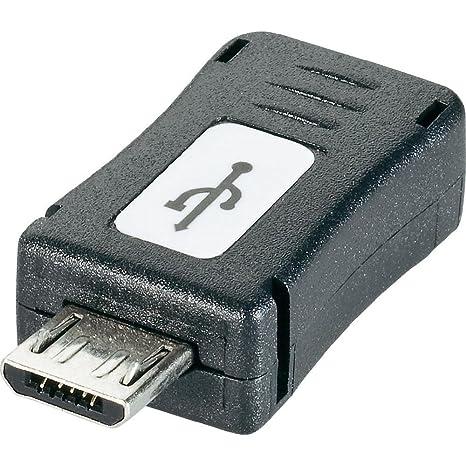Adaptateur Renkforce USB 2.0 [1x USB 2.0 mâle Micro-B - 1x USB 2.0 femelle Mini-B] 0.00 m