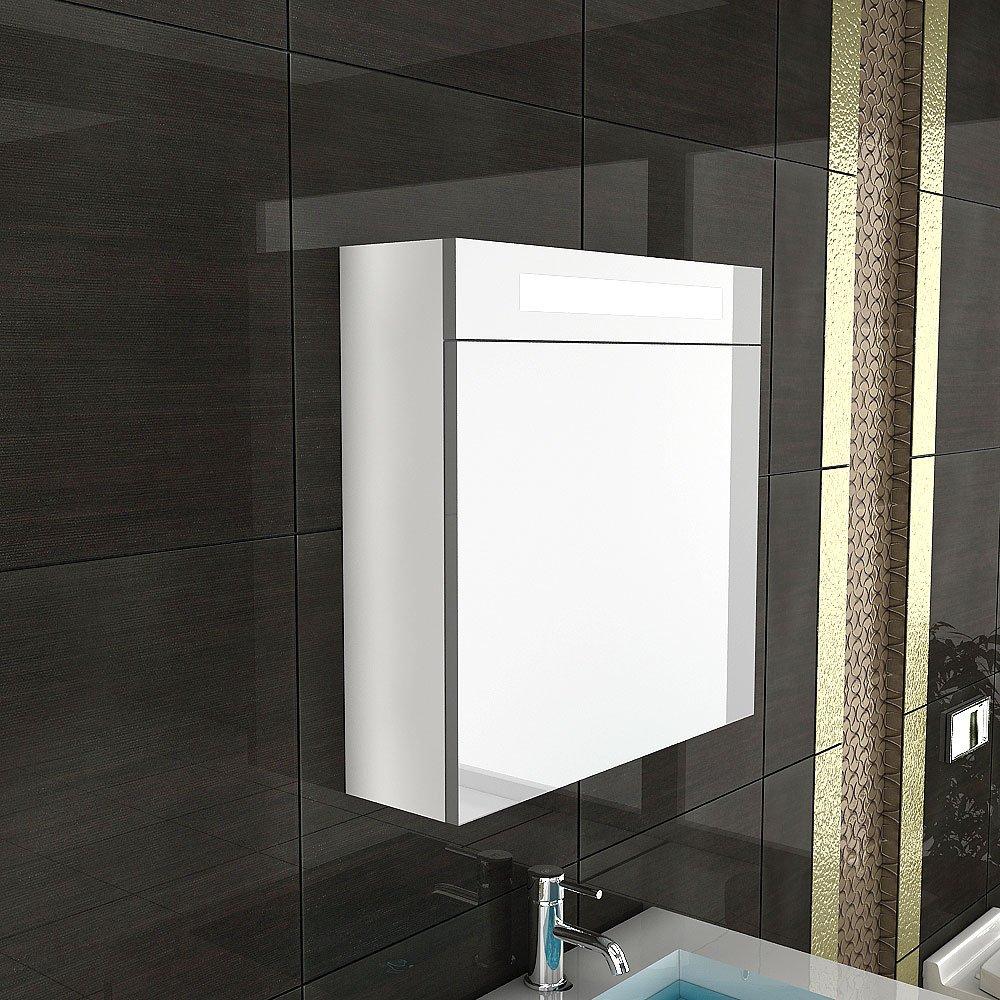Möbel für´s Bad / Spiegelschrank mit Beleuchtung / S60 / Weiss / inkl. SoftClose Funktion / Badezimmer / Angebot  Kundenberichte und weitere Informationen