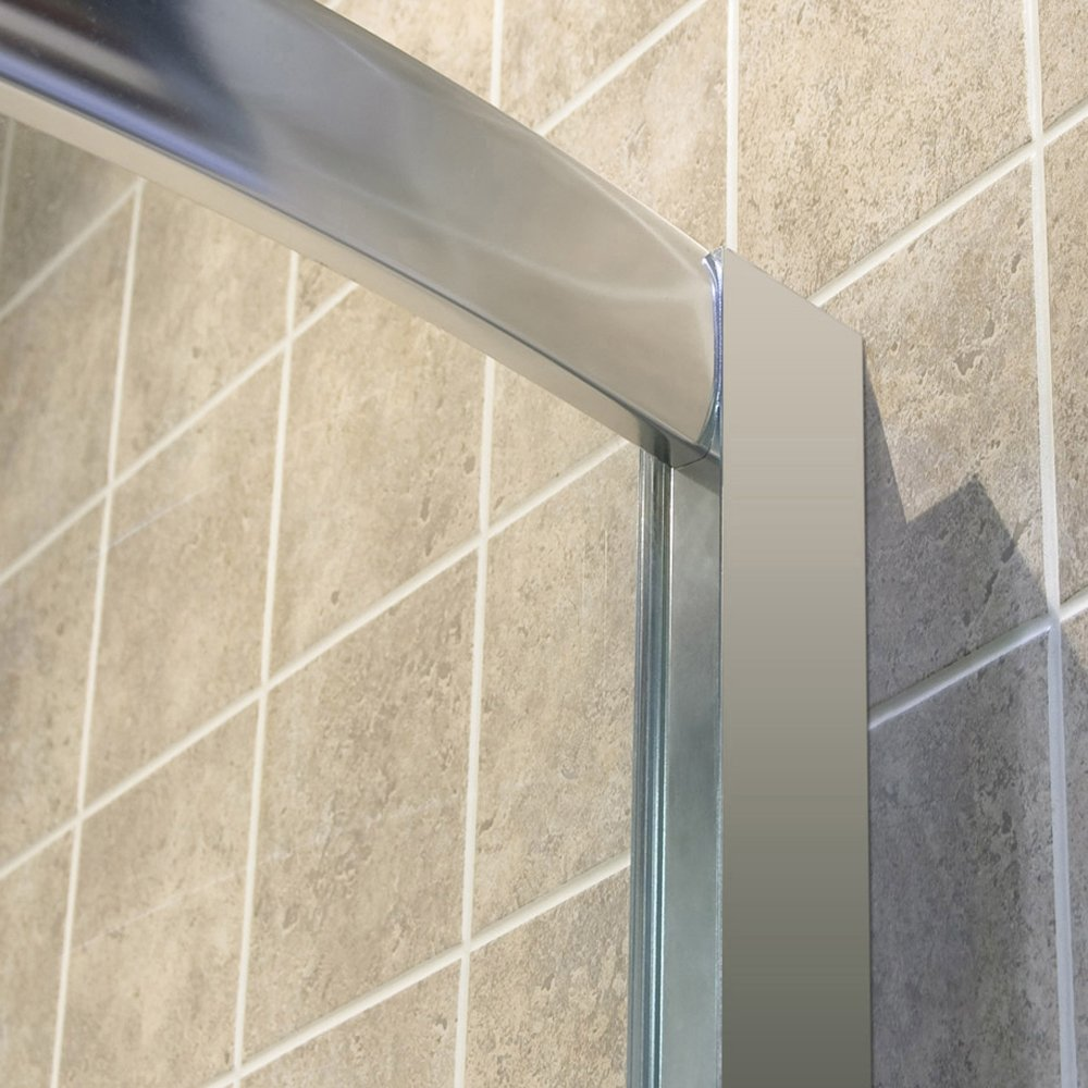 DreamLine Prime 33 in. D x 33 in. W Kit, with Corner Sliding Shower Enclosure in Chrome, White Acrylic Base and Backwalls