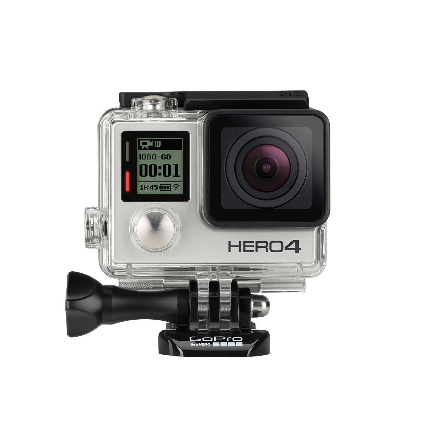 GoPro Hero 4 silver motorcycle action camera