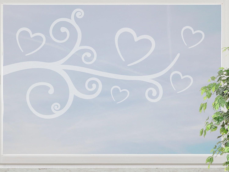 wandfabrik – Fenstersticker 1 Ranke mit Herzen -60cm Motiv (HZ1R60) – frosty – 798 – (Xt) online kaufen