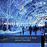 Litom Solar Outdoor 200 LED String Lights 72.18 ft Solar Decorative Power Light with 8 Working Modes