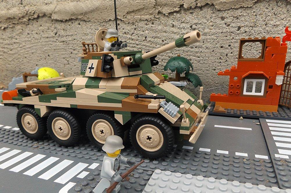 Modbrix 2446 – ✠ Bausteine Panzer Puma, inkl. custom Wehrmacht Soldaten aus original Lego© Teilen ✠ bestellen