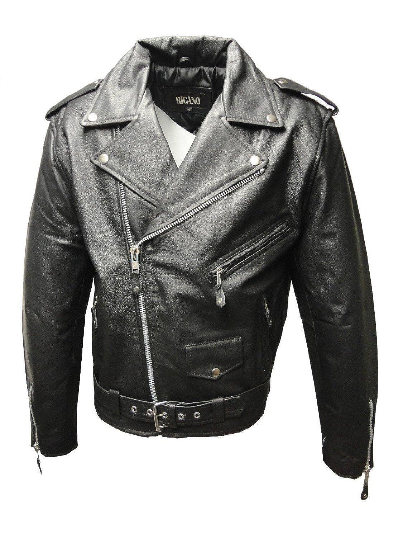 """Herren Lederjacke """"BRANDO"""" von RICANO aus Echt Nappa Leder (schwarz) günstig online kaufen"""