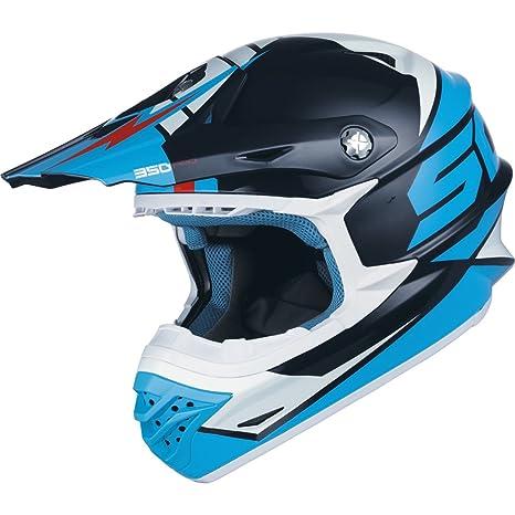 Scott podium 350 pro enduro casque de moto de vélo bleu/bleu clair 2015