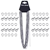 Outus 33 Feet Stainless Steel DIY Link Chain Necklaces with 20 Lobster Clasps and 30 Jump Rings for Jewelry Making (2.5 mm) (Color: Silver, Tamaño: 2.5 mm)