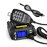 QYT KT-8900D 25W Dual Band Mini Mobile Transceiver Two-Way Radios136~174/400~480MHz Quadstandby Amateur Car Radio+Programming Cable - Lightwish