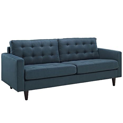 Empress Upholstered Sofa - Azure