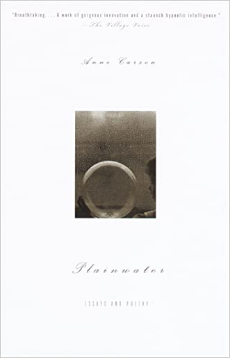 Plainwater: Essays and Poetry (Vintage International)