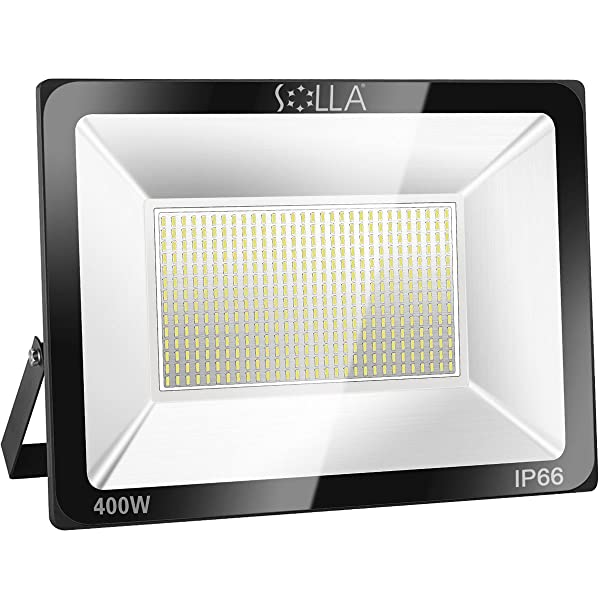 SOLLA 400W LED Flood Light, IP66 Waterproof, 32000lm, 2140W Equivalent, Super Bright Outdoor Security Lights, 3000K Warm White, Floodlight Landscape Wall Lights (Color: 3000k Warm White, Tamaño: 400w)