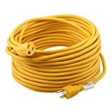 Epicord 14/3 Extension Cord Outdoor Extension Cord (50 ft) Yellow heavy duty extension cord (Color: Yellow, Tamaño: 14/3 50ft)